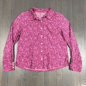hanna andersson Pink Floral Button Down Shirt